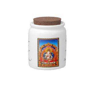 Cool tibetan thangka Dragon King Bodhisattva Candy Jar