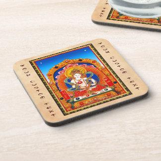 Cool tibetan thangka Dragon King Bodhisattva Coaster