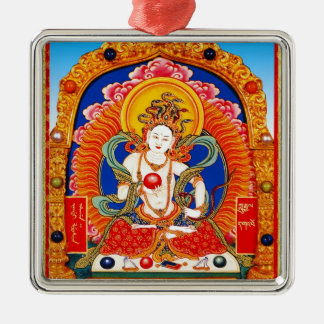 Cool tibetan thangka Dragon King Bodhisattva Metal Ornament