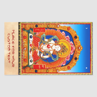 Cool tibetan thangka Dragon King Bodhisattva Rectangular Sticker