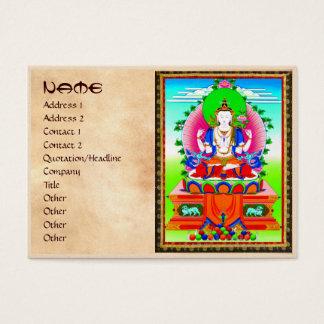 Cool tibetan thangka Shadakshari Avalokiteshvara Business Card