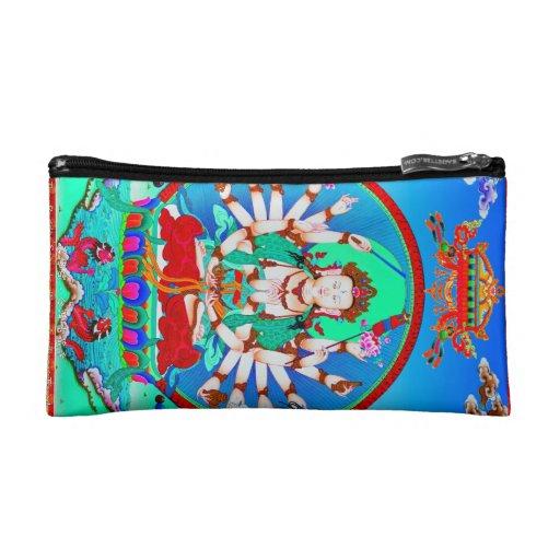 Cool tibetan thangka tattoo Cundhi Bodhisattva Cosmetic Bags