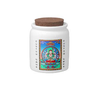 Cool tibetan thangka tattoo Cundhi Bodhisattva Candy Dishes