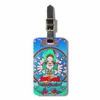 Cool tibetan thangka tattoo Cundhi Bodhisattva Bag Tag