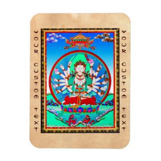 Cool tibetan thangka tattoo Cundhi Bodhisattva Magnet