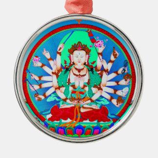 Cool tibetan thangka tattoo Cundhi Bodhisattva Metal Ornament