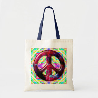 Cool Tie Dye Space Nebula Peace Sign Bags