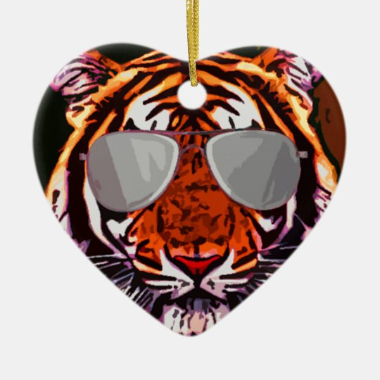 Cool Tiger Ceramic Ornament