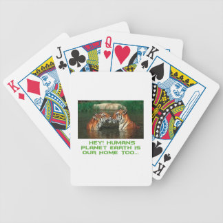 cool Tiger designs Bicycle Playing Cards