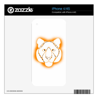 Cool Tiger Strips Spray Paint Design Decals For The iPhone 4S