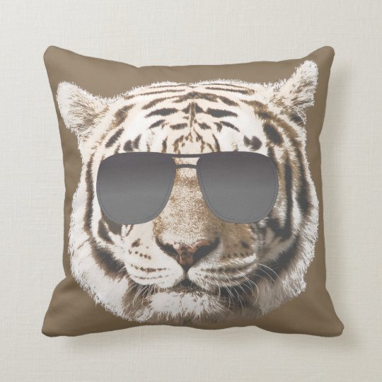 Cool tiger throw pillow for Cool couch pillows