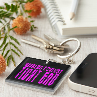 Cool Tight Ends Pink : Worlds Coolest Tight End Single-Sided Square Acrylic Keychain
