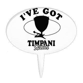 Cool Timpani musical instrument designs Cake Topper