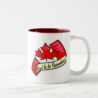 Cool To Be Canadian Two-Tone Coffee Mug