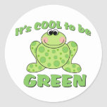 Cool to be Green FROG Round Sticker