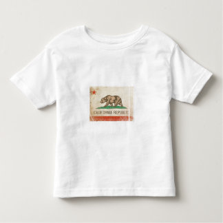 Cool Toddler Tee Distressed Flag from California
