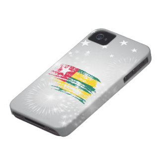 Cool Togolese flag design iPhone 4 Covers