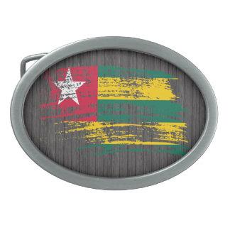 Cool Togolese flag design Oval Belt Buckle