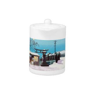 Cool Tomikichiro tokuriki winter snow village town
