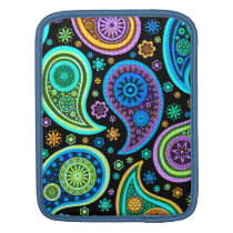 Cool Tones Modern Paisley Pattern Sleeve For iPads