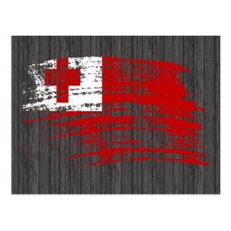 Cool Tongan flag design Postcard