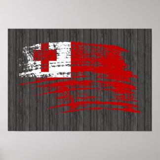 Cool Tongan flag design Poster