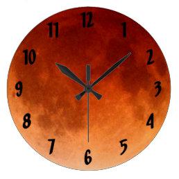 Cool Total Lunar Eclipse Blood Moon Clock