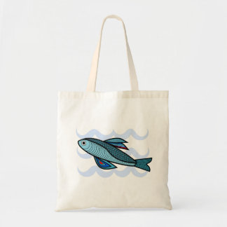 Cool Tote Bag Blue Fish Swimming in Water