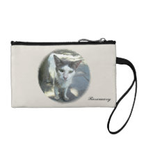 Cool Town Cat Green Eyes Gray Ears Coin Clutch Change Purses at  Zazzle