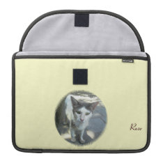 Cool Town Cat Green Eyes Macbook Pro 13