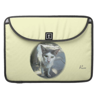"Cool Town Cat Green Eyes Macbook Pro 15"" Sleeve"