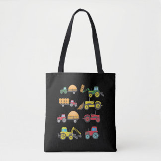 Cool Tractor Drawing Farm Lover Agriculture Kid Tote Bag
