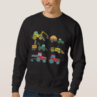Cool Tractors and Harvesters Collection Farmer Sweatshirt