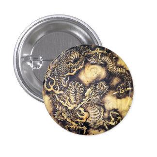Cool traditional japanese oriental dragon wood art pin