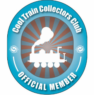 Cool Train Collectors Club Photo Sculpture Ornament