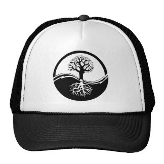 cool tree in black and white hats