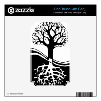 cool tree in black and white decals for iPod touch 4G