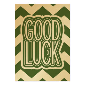 Cool Tree Top – Good Luck - Chevron Large Business Cards (Pack Of 100)