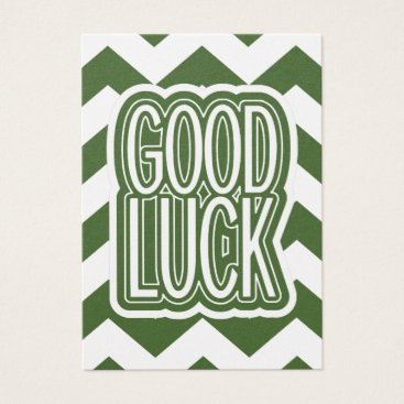 Beach Themed Cool Tree Top – Good Luck - Chevron Business Card