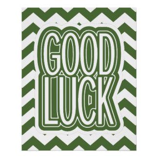 Cool Tree Top – Good Luck - Chevron Poster