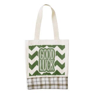 Cool Tree Top – Good Luck - Chevron Zazzle HEART Tote Bag