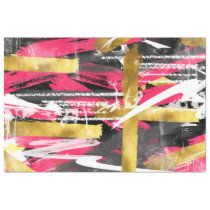 Cool trendy abstract brush strokes paint splatters tissue paper