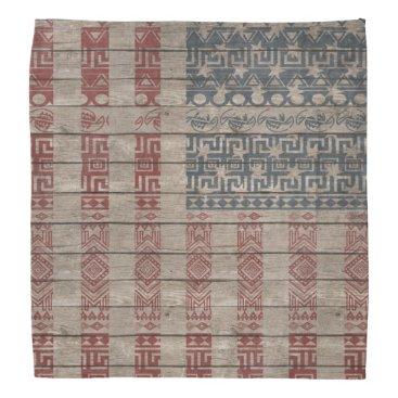 Aztec Themed Cool trendy America flag Aztec tribal pattern Bandana
