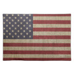 Cool trendy America flag Place Mats