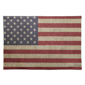 Cool trendy America flag Place Mats