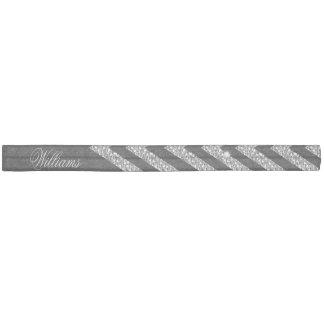 Cool trendy chevron zigzag silver faux glitter elastic hair ties