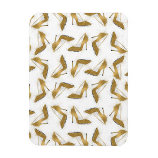 Cool trendy faux gold glitter high heel shoes rectangular photo magnet