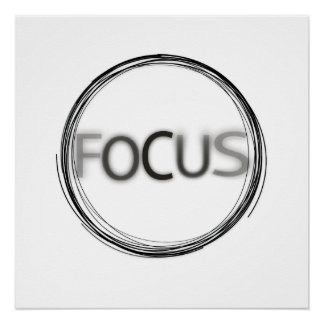 Cool Trendy Focus  Logo Modern Typography Poster