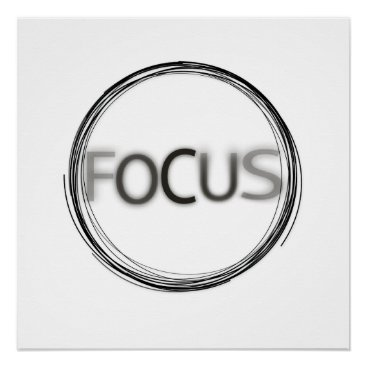 Professional Business Cool Trendy Focus  Logo Modern Typography Poster