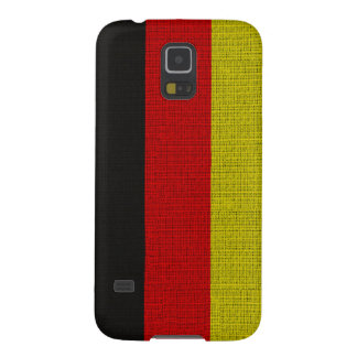 Cool trendy Germany flag burlap texture Galaxy S5 Case